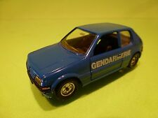 SOLIDO 1508  PEUGEOT 205 GTI - GENDARMERIE POLICE - BLUE 1:43 - GOOD CONDITION