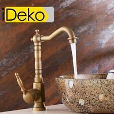 Robinet lavabo cuivre rétro en haut Mitigeur vasque Salle de bain laiton