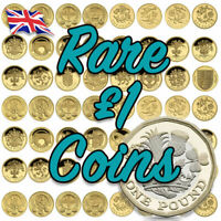 Rare and Commemorative £1 One Pound Coins Royal Arms - Last Round Pound