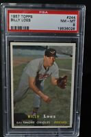 1957 Topps - Billy Loes - #244 - PSA 8 - NM-MT