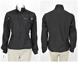 Womens GORE BIKE WEAR Cycling Jacket Black Windstopper Active Shell Size 40 / L