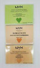 3-Pk Nyx Tea Tree & Green Tea Blotting Papers Sealed 300 Sheets