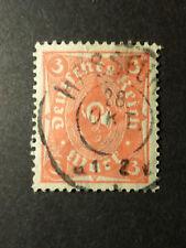 ALLEMAGNE EMPIRE GERMANY 1922/23, timbre 206 oblitéré,  COR DE POSTE, VF STAMP
