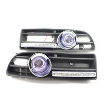 Car GRILLE FOG LIGHT FOR VW JETTA BORA MK4 99-04 LED DRL Blue Lens 4DR