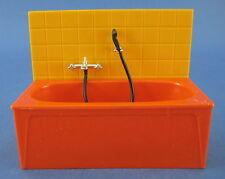 Dollhouse Miniature Bathroom Bathtub Tub Tile Wall
