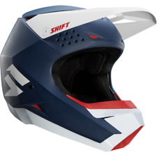 Shift Whit3 Label Helmet Adult Navy Blue Motorcycle MX ATV Off Road 19336-007