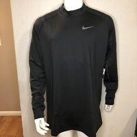 Nike Shirt Training Therma Long Sleeve 929731-010 Black Mens Size 3XL