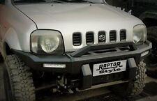 Raptor 4x4 Front Squared Winch Bumper Suzuki Jimny LED Lights Off Road