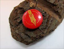 """LOT OF 20 Antique Round Pin in Red w/Golden NIb Advertising """"1910"""" (Ref.#8198)"""