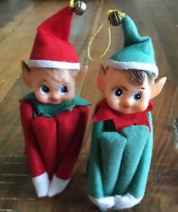 Vintage pair of Elves Pixies knee hugger Elf on the Shelf Japan