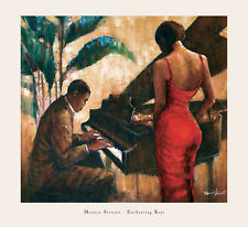 AFRICAN AMERICAN ART PRINT Enchanting Keys - Monica Stewart 29x26.5 Piano Poster