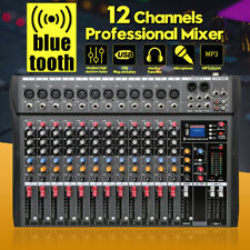 12 Kanal Live Audio bluetooth Mischkonsole Audio Mixer Mischpult USB Mischer