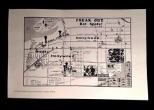 1966 FRANK ZAPPA FREAK OUT HOT SPOTS MAP L.A HEAD SHOP VERSION REPRINT BEEFHEART