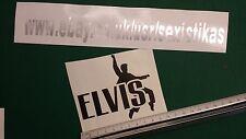 ELVIS Decal Sticker,Window,Car,Van,Bumper,King,Presley,Jailhouse,,name.Suede.