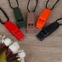 5pcs/set Dual Band Survival Whistle Lifesaving Emergency Whistle With Rope FT