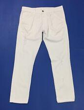 Please jeans donna usato bianco skinny S relaxed slim comodo cavallo basso T3327