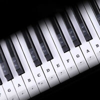 Removable Black Piano Music Keyboard Stickers For 49, 54 ,61or 88 Key Nice