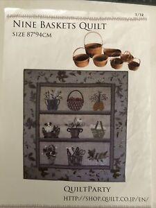 Nine Baskets Quilt pattern by Yoko Saito