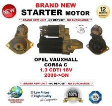 Per Opel Vauxhall Corsa C 1.3 CDTI 16V 2000-ON nuovo motore di avviamento 1.1 KW 9 DENTI