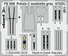 Eduard Zoom Fe968 1/48 Rafale C Cinturones Gris Acero Revell