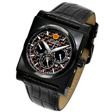 LOUIS RICHARD CLERMONT MEN'S AUTOMATIC WATCH NEW BLK IP