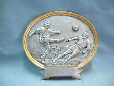 TEAM LOT OF 8 SOCCER  male  trophies resin oval plaque large PDU 54515GS
