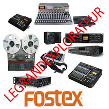 Ultimate  FOSTEX  Operation  Repair  Service manual       200 PDF manuals on DVD