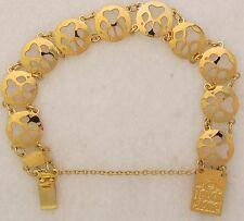 Paw Print  Pawprint Jewelry Gold Bracelet