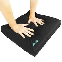 Wheelchair Cushion by Vive - Gel Seat Pad for Coccyx, Back Support, Sciatica