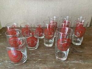 Vintage University Of Nebraska Cornhuskers Huskers Drinking Glasses ~ 13