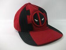 Deadpool Marvel Hat Red Black Snapback Baseball Cap