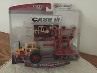 Case 1270 Sunset Yellow Tractor w Folding Disk 1/64 scale NIP by Ertl