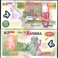ZAMBIA 1000 KWACHA  P NEW POLYMER UNC