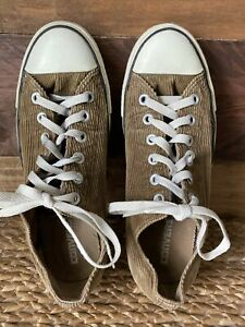 Converse All Star Brown Corduroy Size 6.5 or 8.5 Women