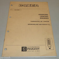 Convolute WORKSHOP MANUAL PEUGEOT BOXER I BRAKE SYSTEM ABS BOSCH 5.3 Stand 06/98