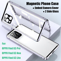 Coque Pour OPPO Find X3 Pro Find X3 Neo Find X3 Lite Magnetic Phone Case Cover