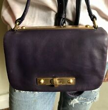 MARC JACOBS SMALL PURPLE LEATHER SHOULDER, CROSSBODY BAG.