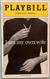 Jefferson Mays Signed New Playbill I Am My Own Wife Autographed OffBroadway 2003
