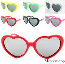 Heart Shape Sunglasses Boho Festival Lolita Style Fancy Dress Party Bright Color