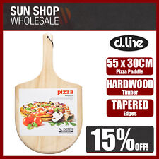 100% Genuine! D.LINE AL DENTE Hardwood Pizza Paddle Natural 55x30cm! RRP $32.95!
