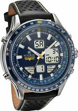 ACCURIST SKYMASTER GENTS BLUE DIAL BLACK LEATHER STRAP WATCH 7112 RRP £174.99
