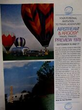 1977 Airstream & Argosy Travel Trailor Original Print Ad 9 x 11""