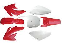Red Plastics Fairing Fender Kit for honda CRF70 XR70 Pit Dirt bike Taotao 125cc