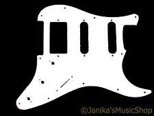 Guitarra Eléctrica Pickguard Blanco sólido Cero Placa Para Hss Pastillas 11 agujero