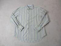 Robert Graham Button Up Shirt Adult 2XL XXL Green Purple Flip Cuff Casual Mens