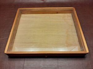 trade show portable lockable wooden display case 25x21
