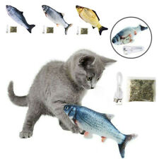 Electric Moving Cat Kicker Fish Toy, Realistic Flopping Wiggle Interactive Fish