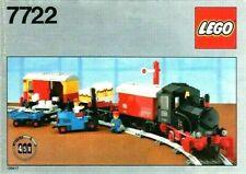 Lego Vintage Steam Cargo Train 7722, 100% Complete, Original Instructions & Box