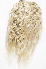 Champagne Blonde Blonde Short Straight Curly Hair Piece