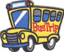 """BUS TRIP""-Iron On Embroidered Applique Patch/School, Vehicle, Children,Vacation"
